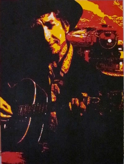 Bob Dylan with train